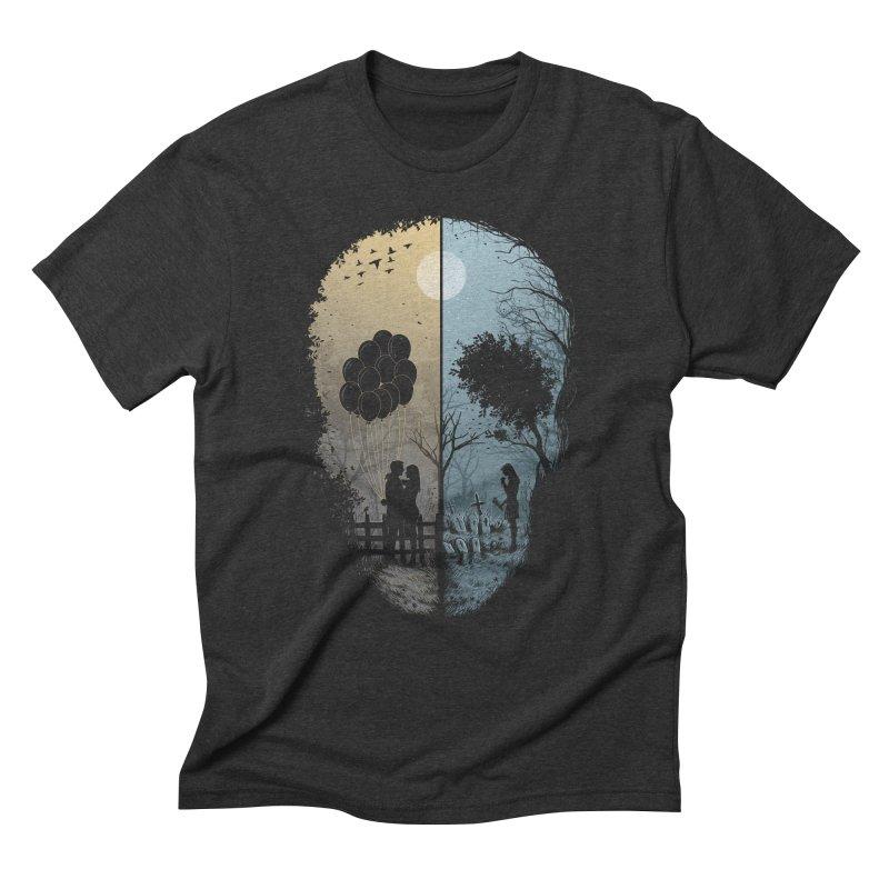 Skull Story Men's Triblend T-Shirt by azrhon's Artist Shop