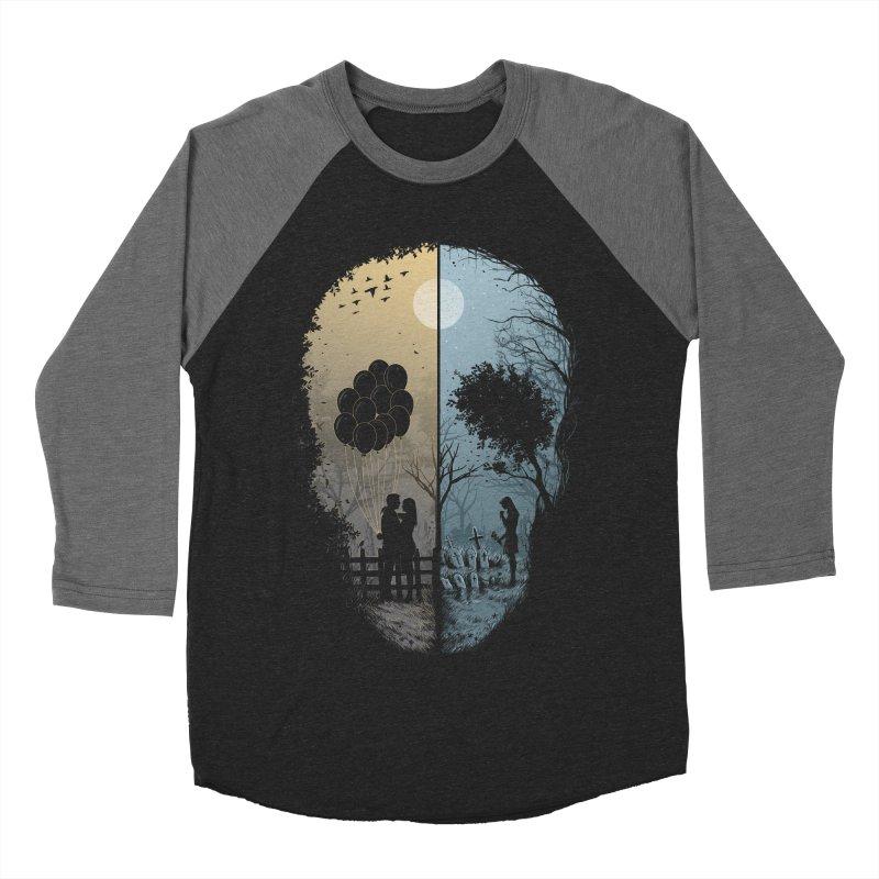 Skull Story Men's Baseball Triblend T-Shirt by azrhon's Artist Shop