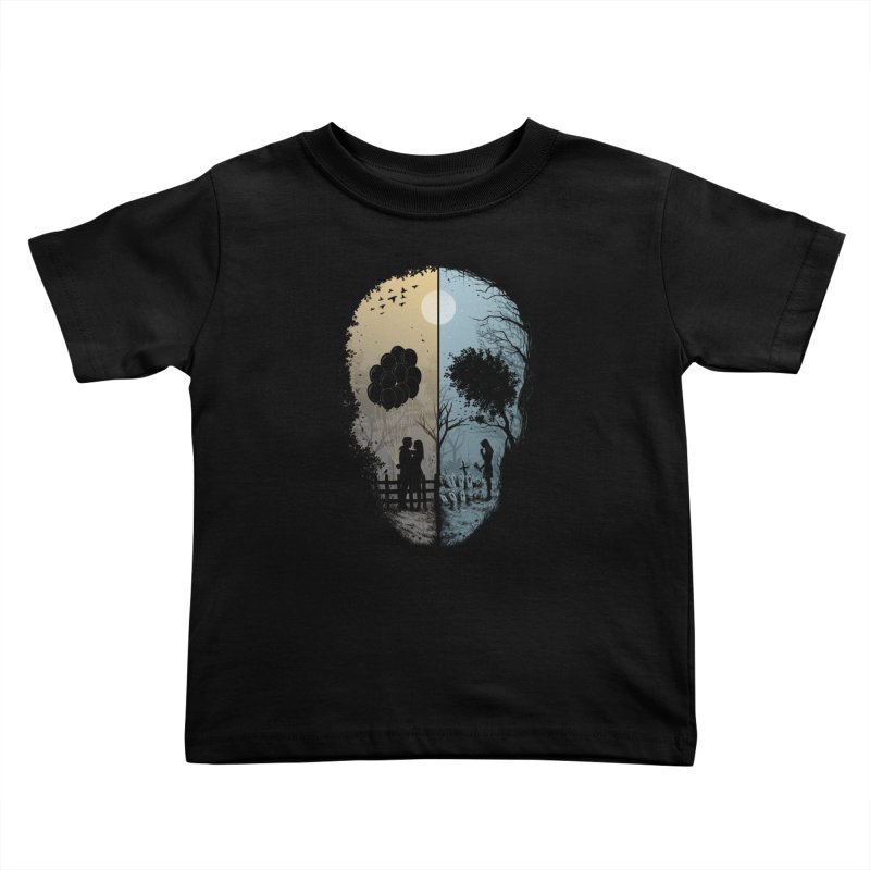 Skull Story Kids Toddler T-Shirt by azrhon's Artist Shop
