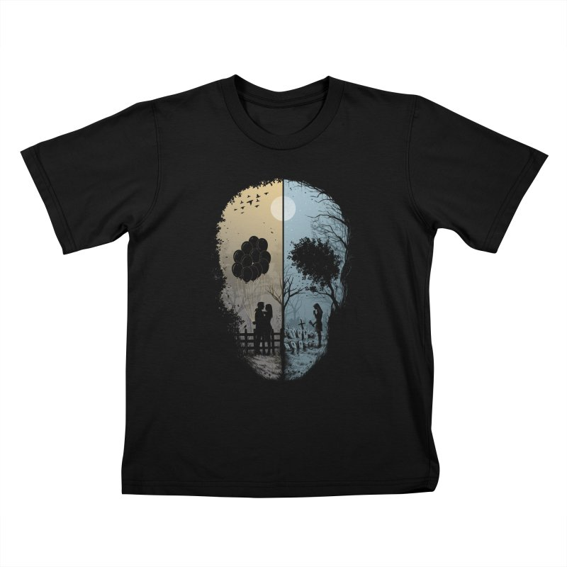 Skull Story Kids T-Shirt by azrhon's Artist Shop