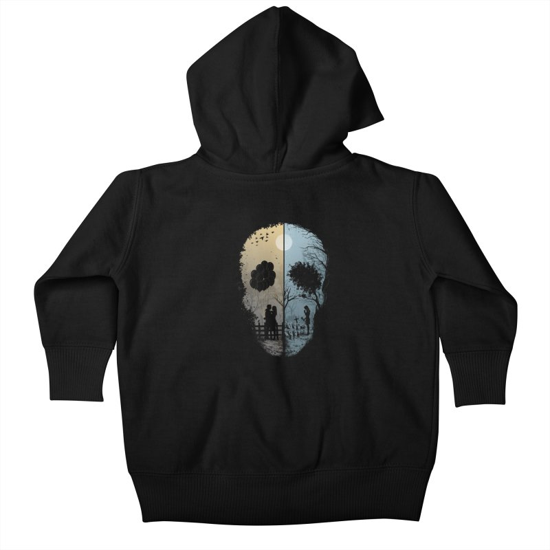 Skull Story Kids Baby Zip-Up Hoody by azrhon's Artist Shop