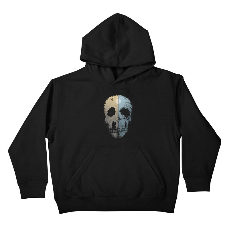 Skull Story Kids Pullover Hoody by azrhon's Artist Shop