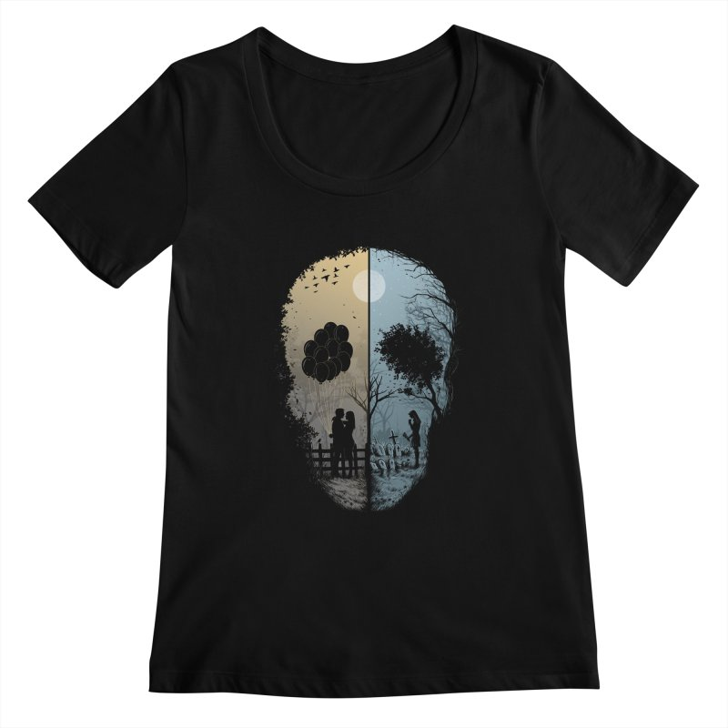 Skull Story Women's Scoopneck by azrhon's Artist Shop