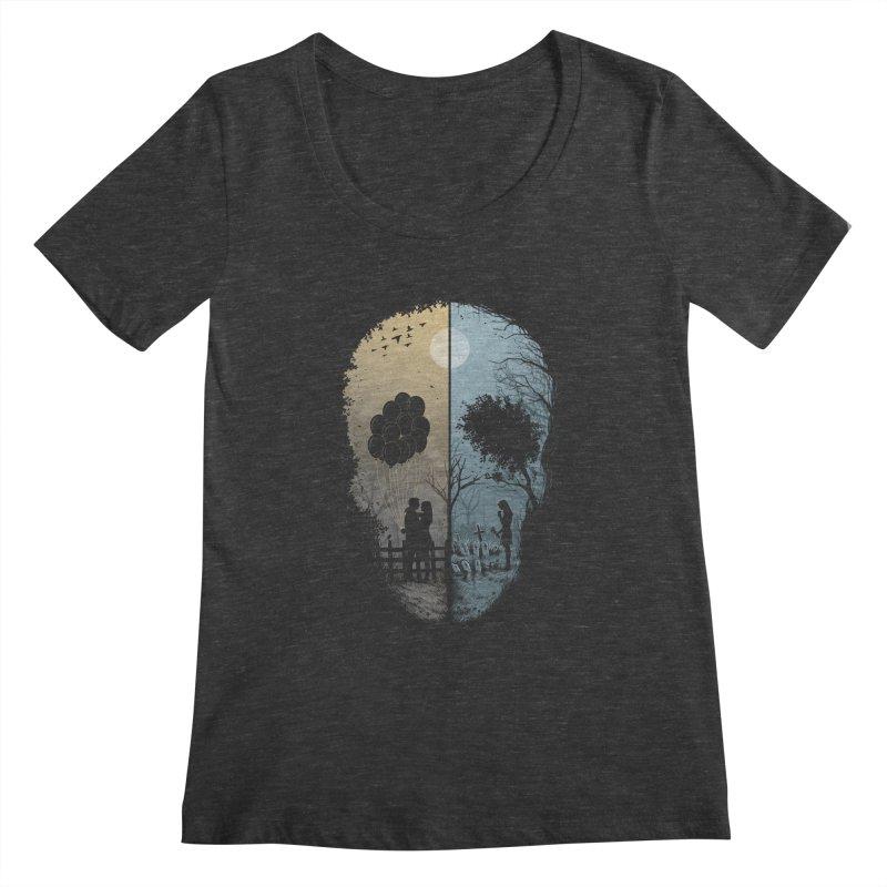 Skull Story Women's Scoopneck by azrhon's Artist Shop
