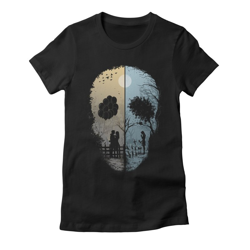 Skull Story Women's Fitted T-Shirt by azrhon's Artist Shop