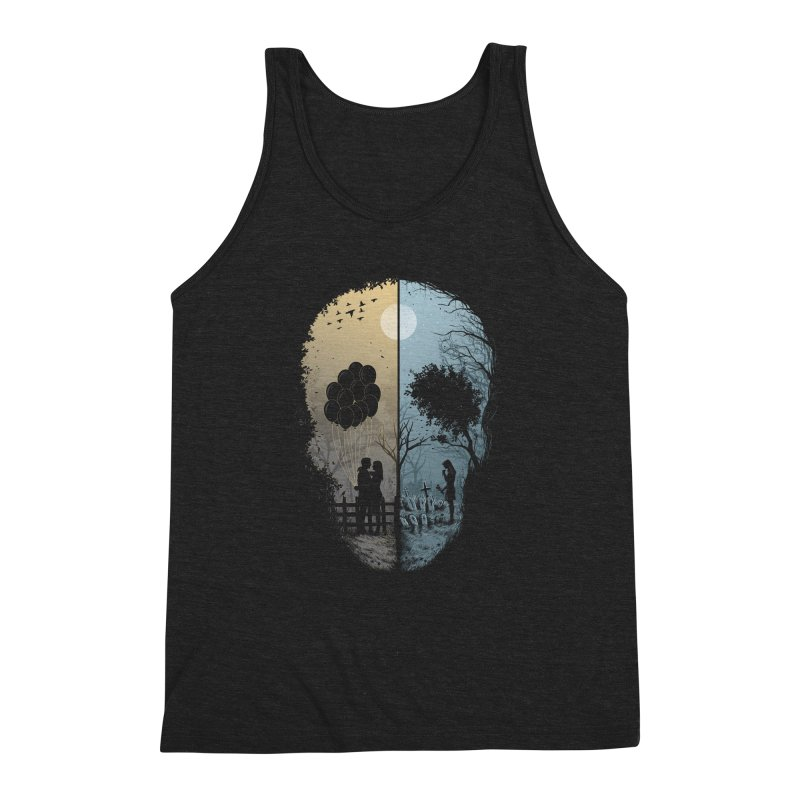Skull Story Men's Triblend Tank by azrhon's Artist Shop