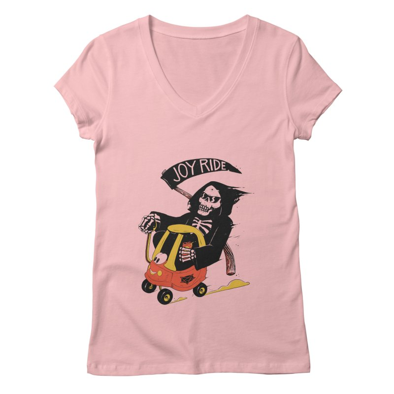 Joy Ride Women's V-Neck by azrhon's Artist Shop