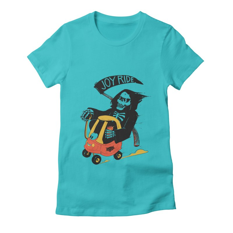 Joy Ride Women's Fitted T-Shirt by azrhon's Artist Shop