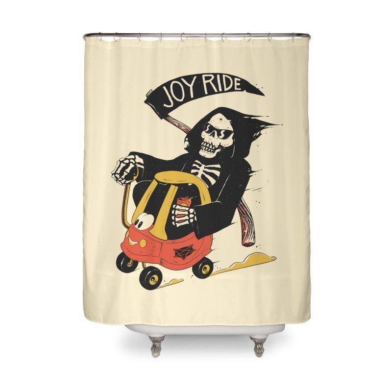 Joy Ride Home Shower Curtain by azrhon's Artist Shop