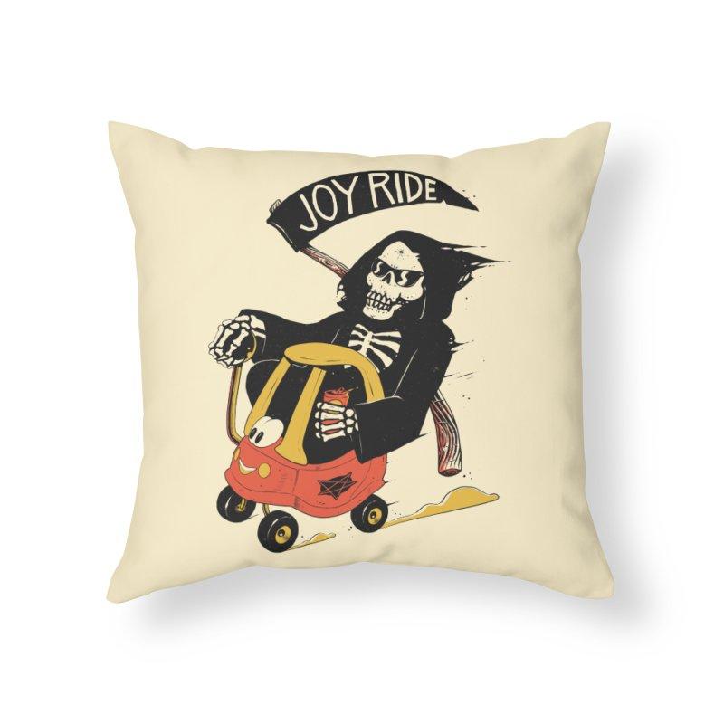 Joy Ride Home Throw Pillow by azrhon's Artist Shop