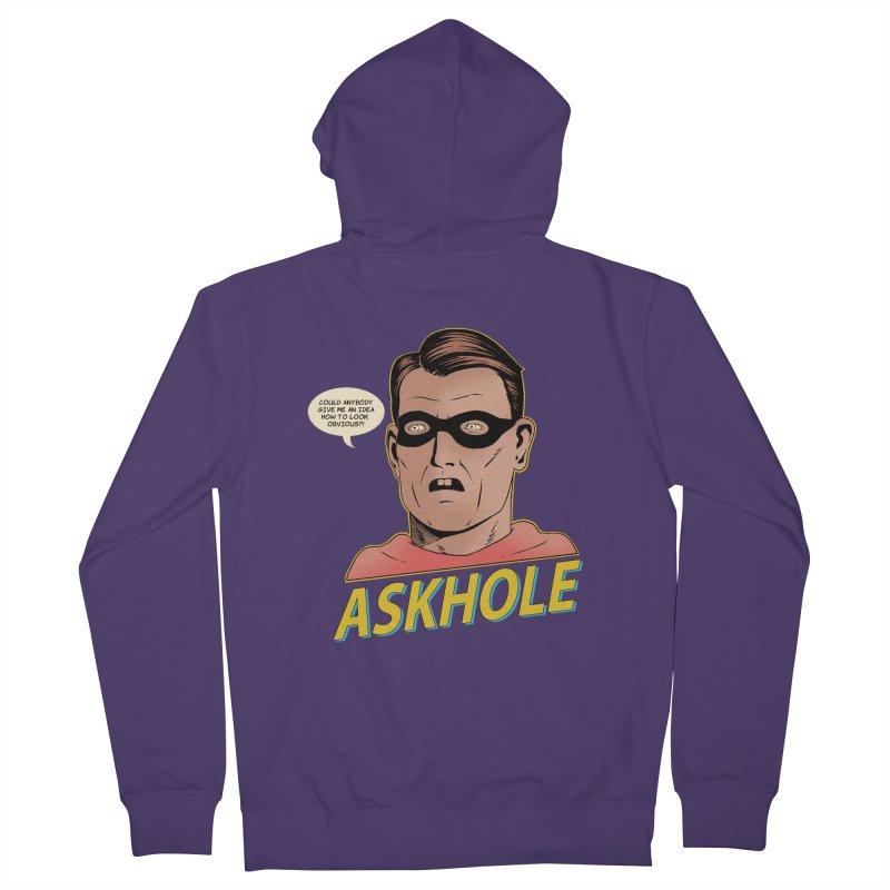 Askhole Women's Zip-Up Hoody by azrhon's Artist Shop