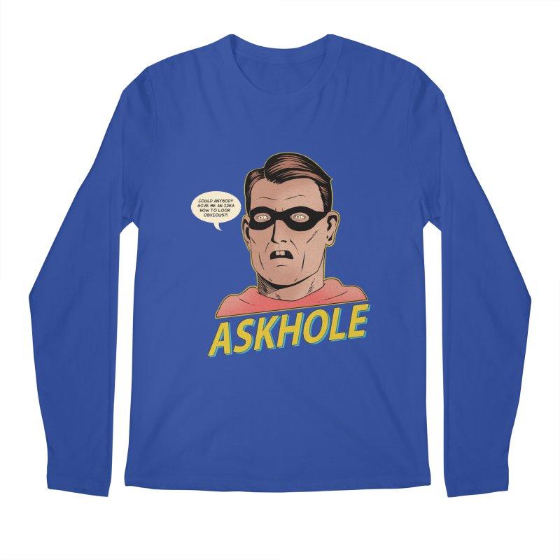 Askhole Men's Longsleeve T-Shirt by azrhon's Artist Shop