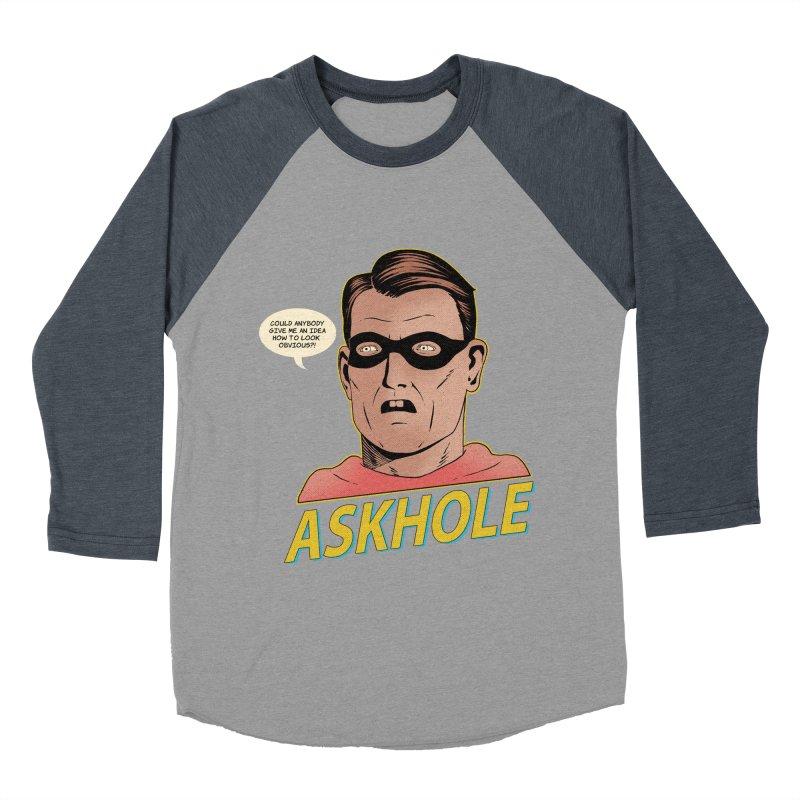 Askhole Men's Baseball Triblend T-Shirt by azrhon's Artist Shop
