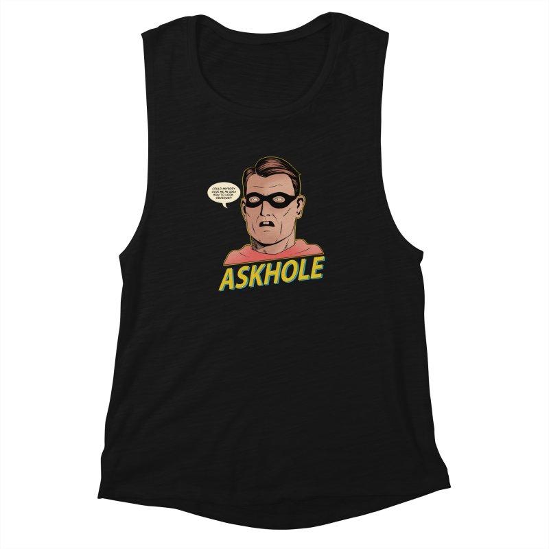 Askhole Women's Muscle Tank by azrhon's Artist Shop
