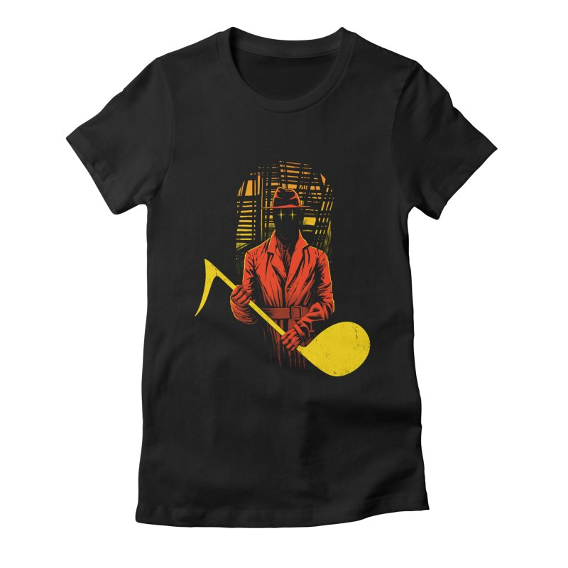 The Shadow Women's Fitted T-Shirt by azrhon's Artist Shop