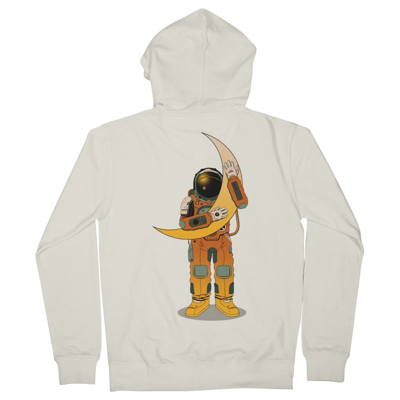My Moon Men's Zip-Up Hoody by azrhon's Artist Shop