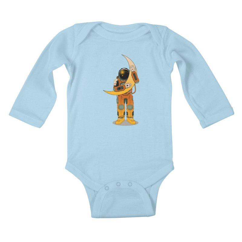 My Moon Kids Baby Longsleeve Bodysuit by azrhon's Artist Shop
