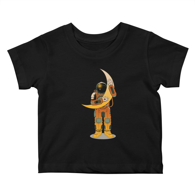My Moon Kids Baby T-Shirt by azrhon's Artist Shop