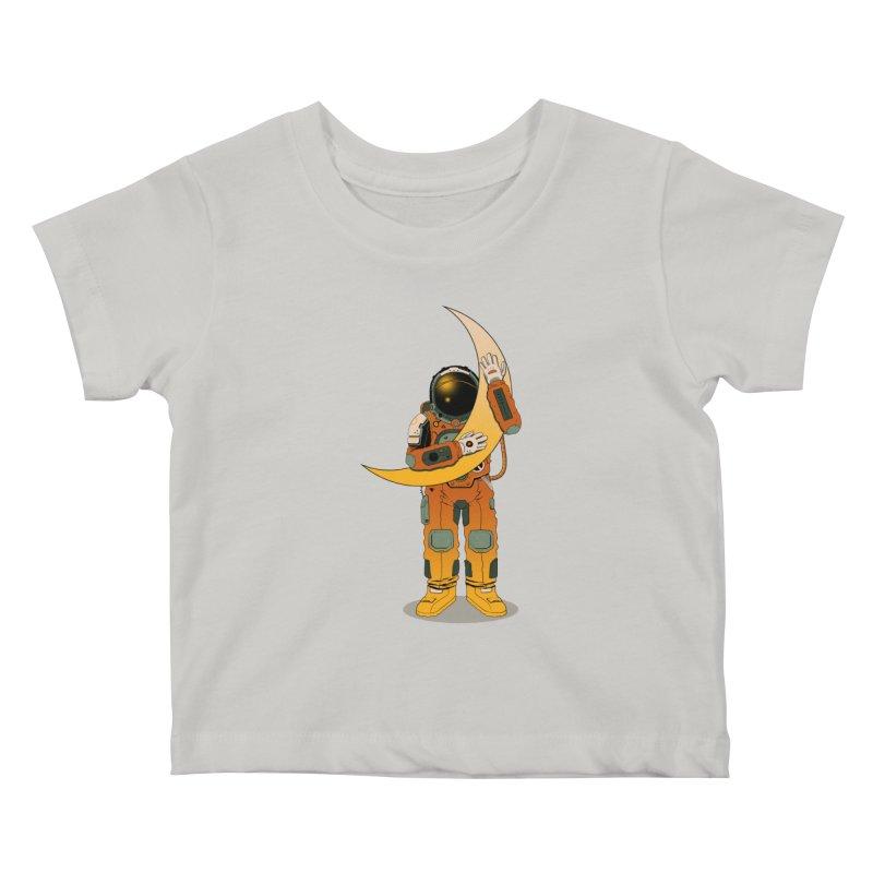 My Moon Kids Baby T-Shirt by azrhon's Artist Shop