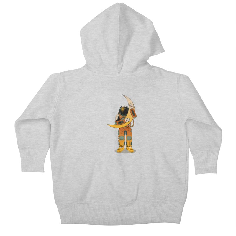 My Moon Kids Baby Zip-Up Hoody by azrhon's Artist Shop