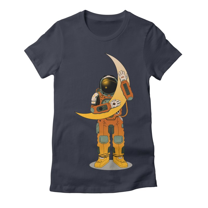 My Moon Women's Fitted T-Shirt by azrhon's Artist Shop