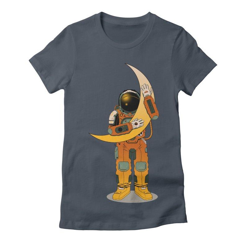 My Moon Women's Fitted T-Shirt by azrhon's Artist Shop