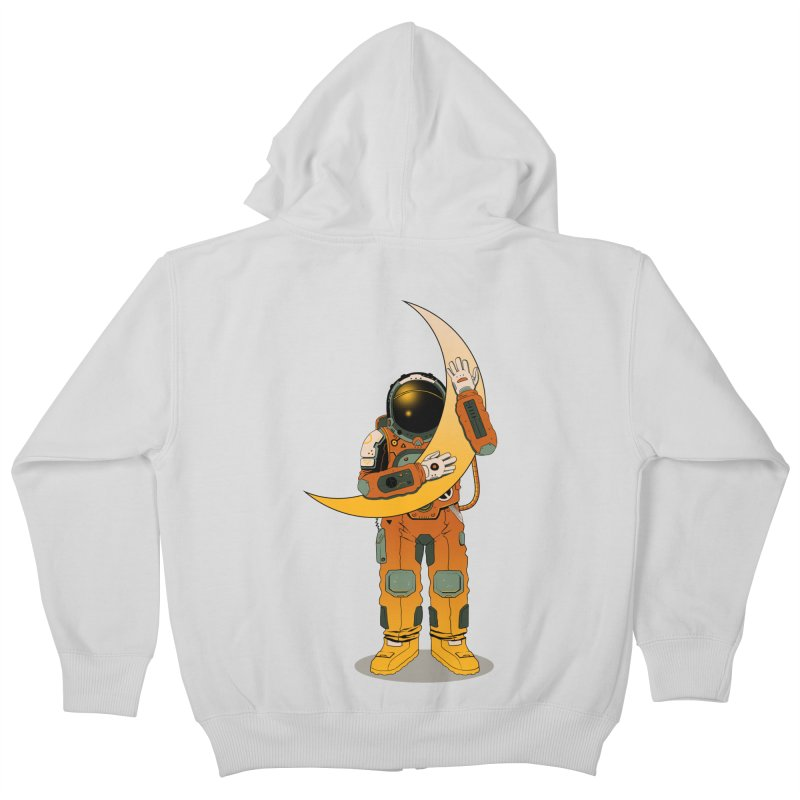 My Moon Kids Zip-Up Hoody by azrhon's Artist Shop