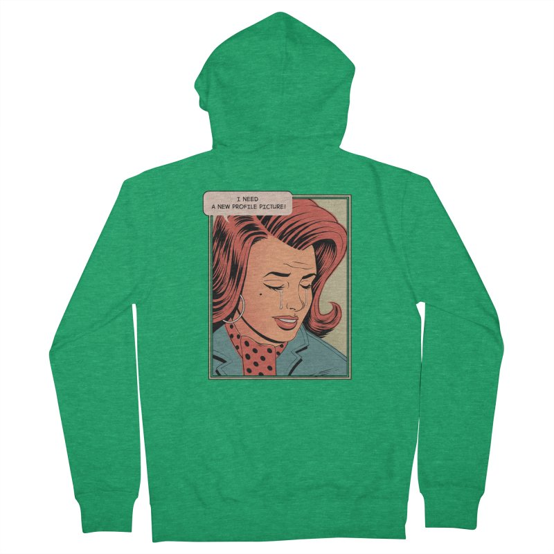Profile Pic Men's Zip-Up Hoody by azrhon's Artist Shop