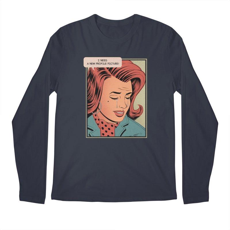 Profile Pic Men's Longsleeve T-Shirt by azrhon's Artist Shop