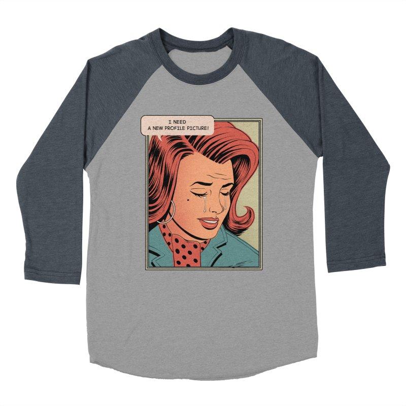 Profile Pic Women's Baseball Triblend T-Shirt by azrhon's Artist Shop