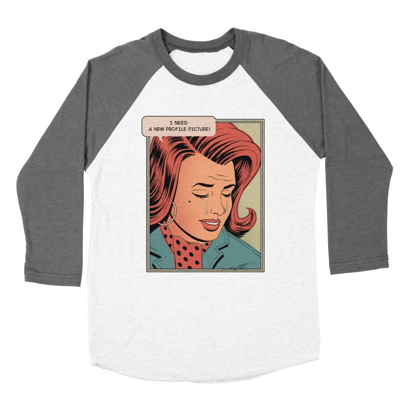 Profile Pic Men's Baseball Triblend T-Shirt by azrhon's Artist Shop