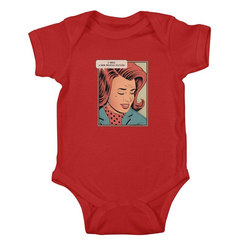 Profile Pic Kids Baby Bodysuit by azrhon's Artist Shop