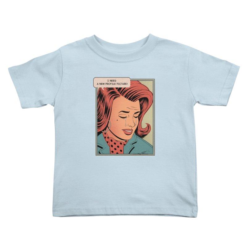 Profile Pic Kids Toddler T-Shirt by azrhon's Artist Shop