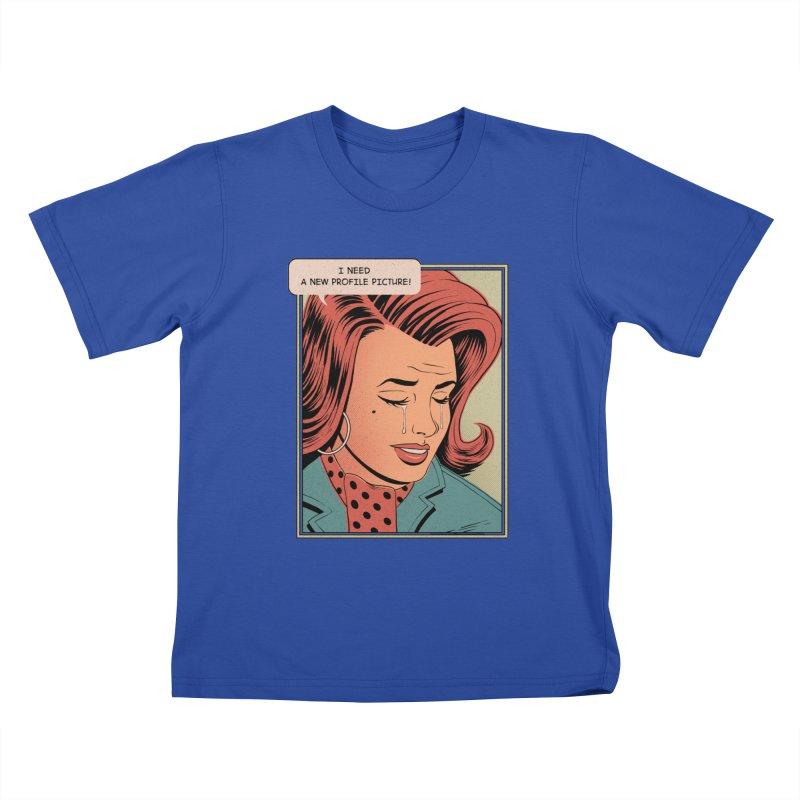 Profile Pic Kids T-Shirt by azrhon's Artist Shop