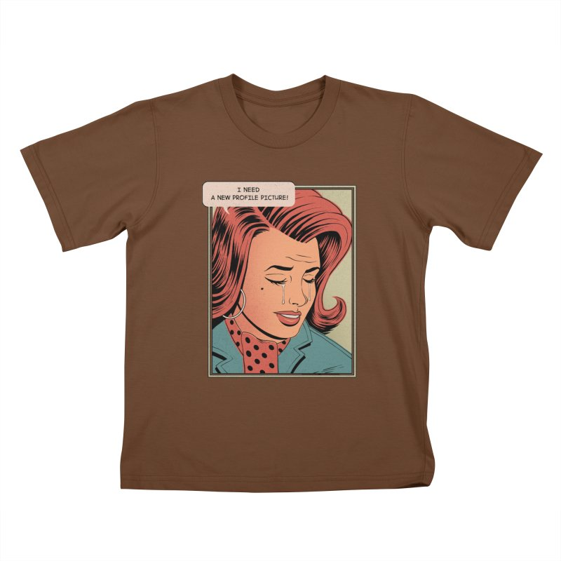 Profile Pic Kids T-Shirt by azrhon's Artist Shop