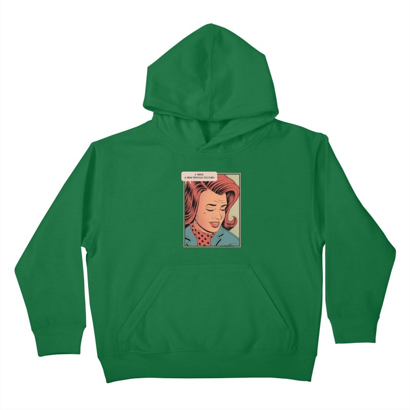 Profile Pic Kids Pullover Hoody by azrhon's Artist Shop