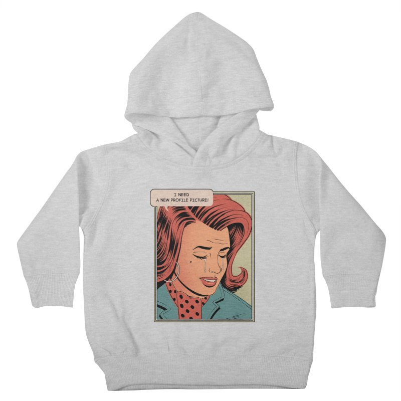 Profile Pic Kids Toddler Pullover Hoody by azrhon's Artist Shop
