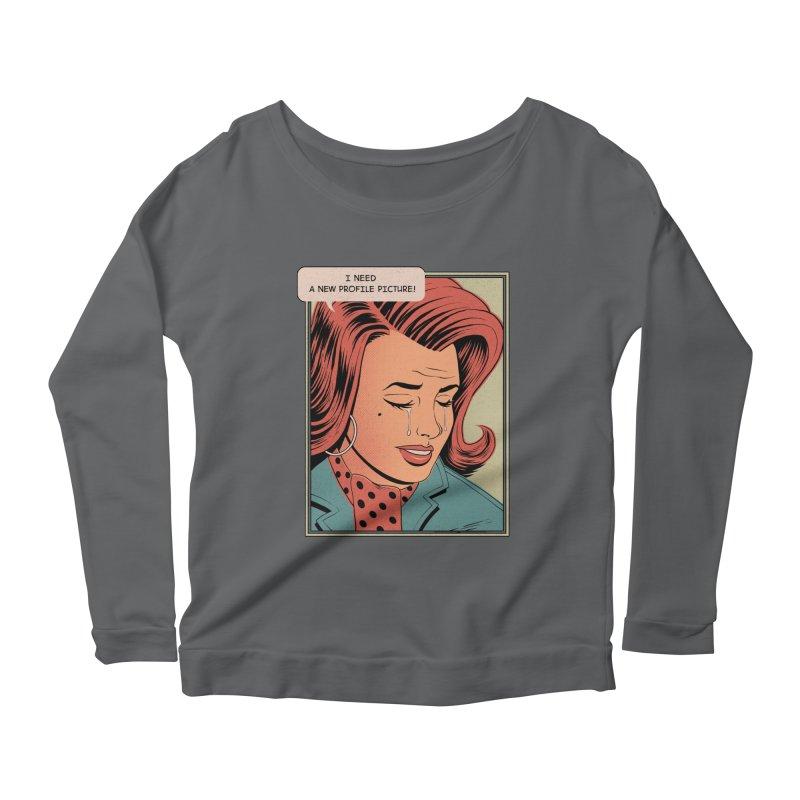 Profile Pic Women's Longsleeve Scoopneck  by azrhon's Artist Shop