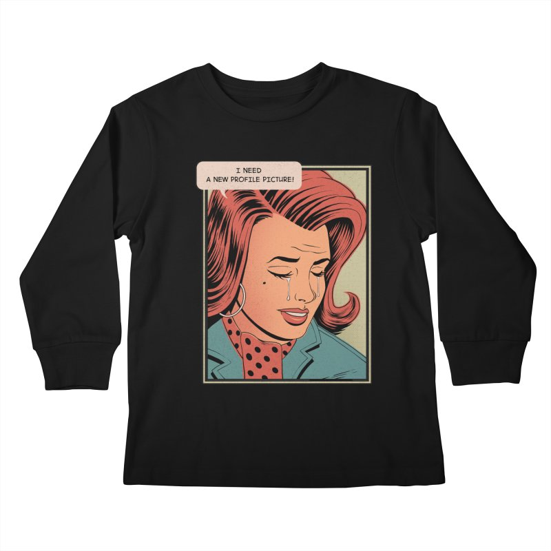Profile Pic Kids Longsleeve T-Shirt by azrhon's Artist Shop