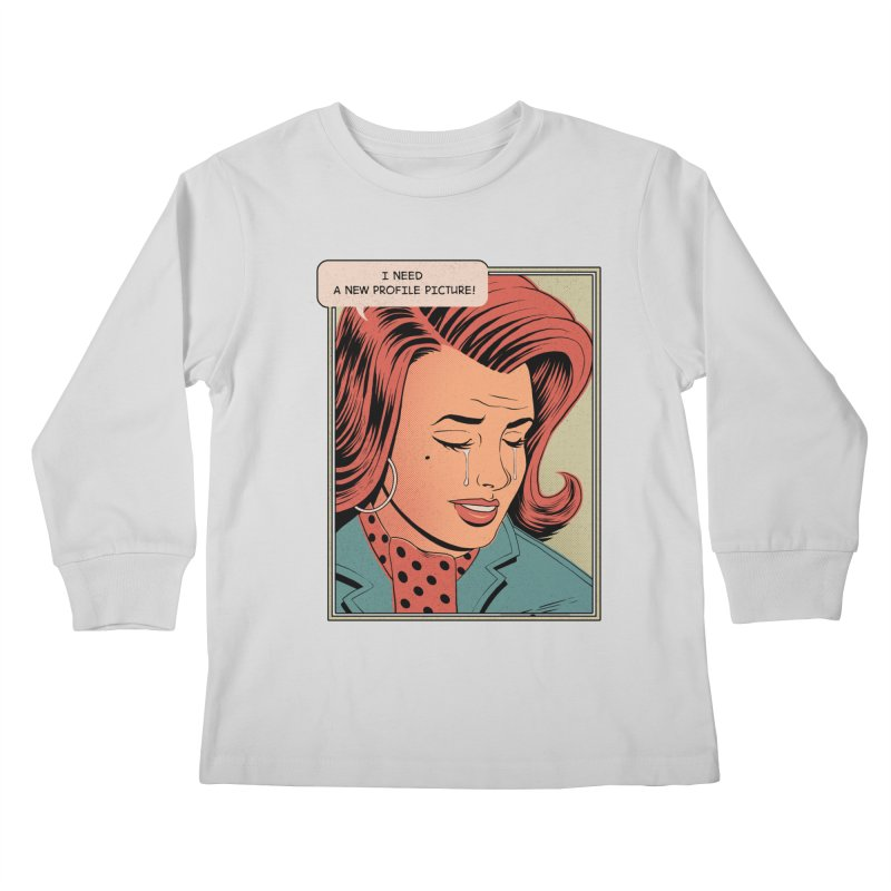 Profile Pic Kids Longsleeve T-Shirt by azrhon's Artist Shop