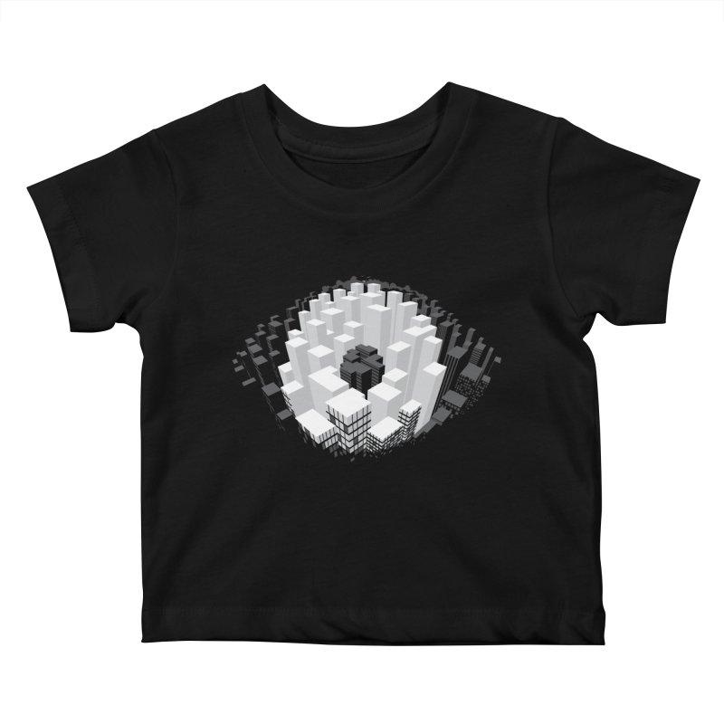 Bird's Eye View Kids Baby T-Shirt by B4 Abraham's Artist Shop