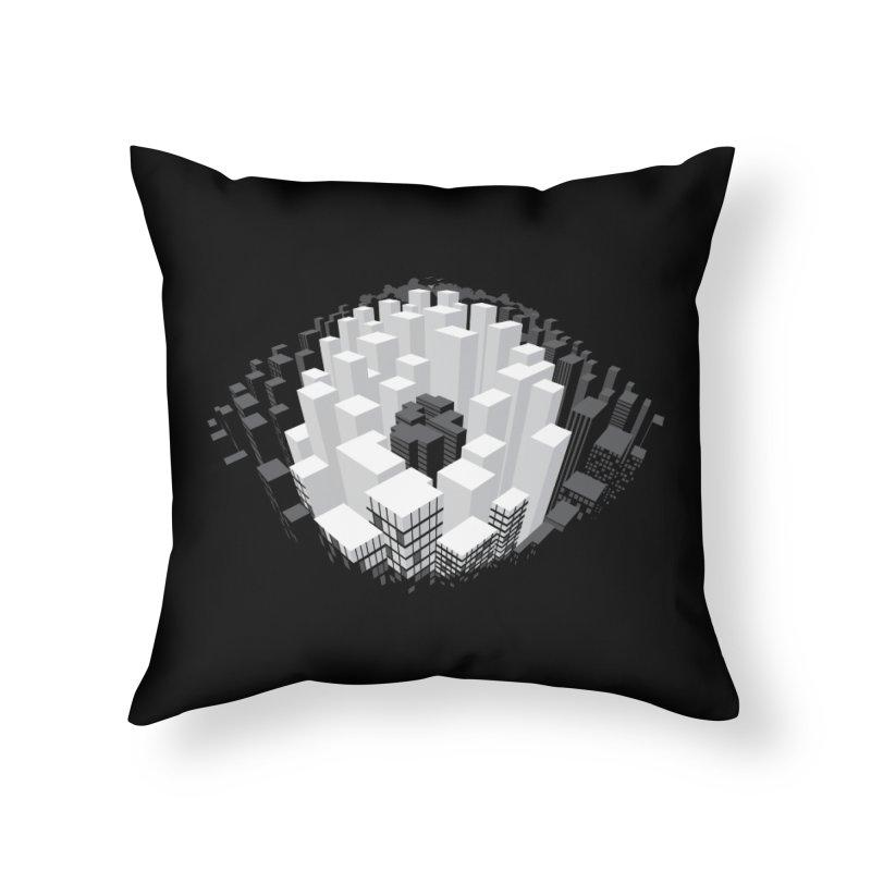 Bird's Eye View Home Throw Pillow by B4 Abraham's Artist Shop