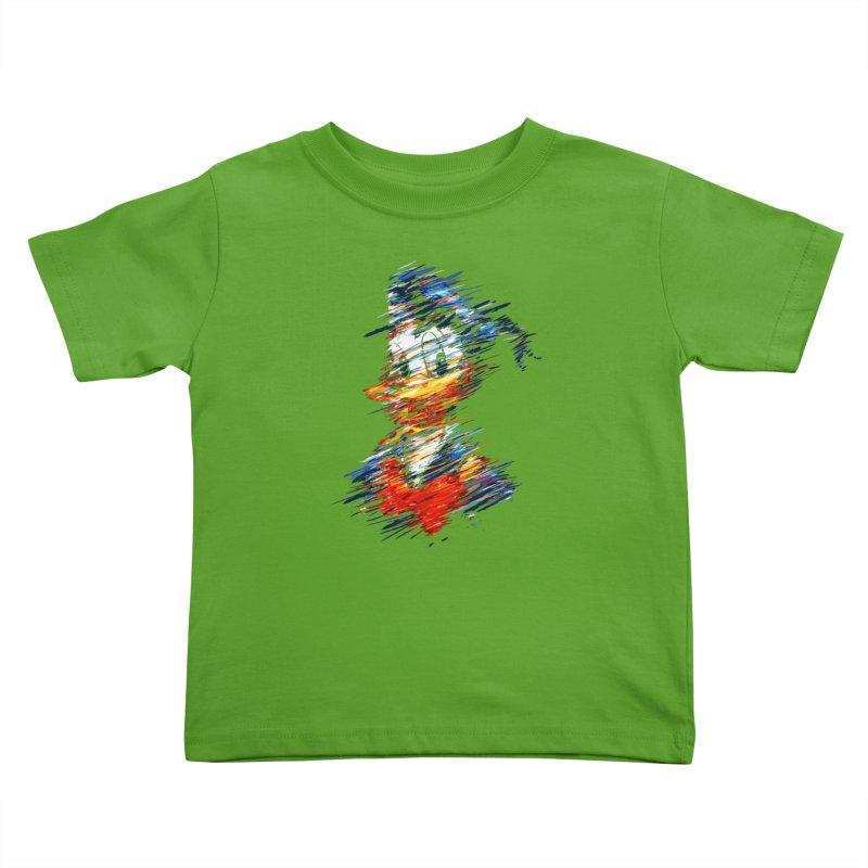 Digital Donald Duck Kids Toddler T-Shirt by B4 Abraham's Artist Shop