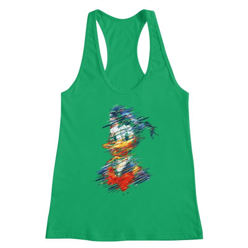 Digital Donald Duck Women's Tank by B4 Abraham's Artist Shop