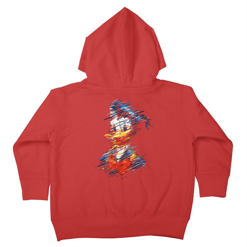 Digital Donald Duck Kids Toddler Zip-Up Hoody by B4 Abraham's Artist Shop