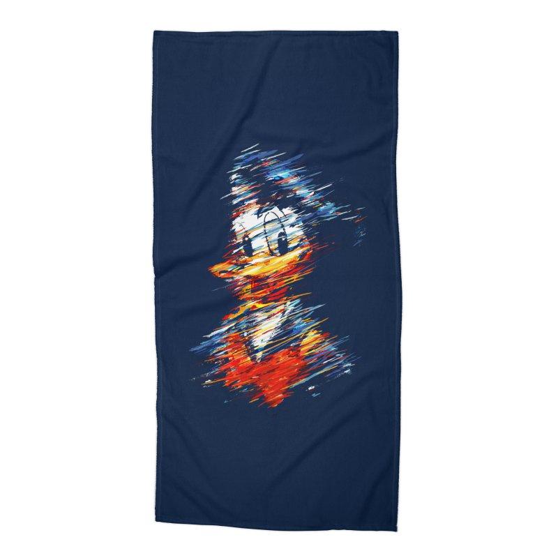 Digital Donald Duck Accessories Beach Towel by B4 Abraham's Artist Shop