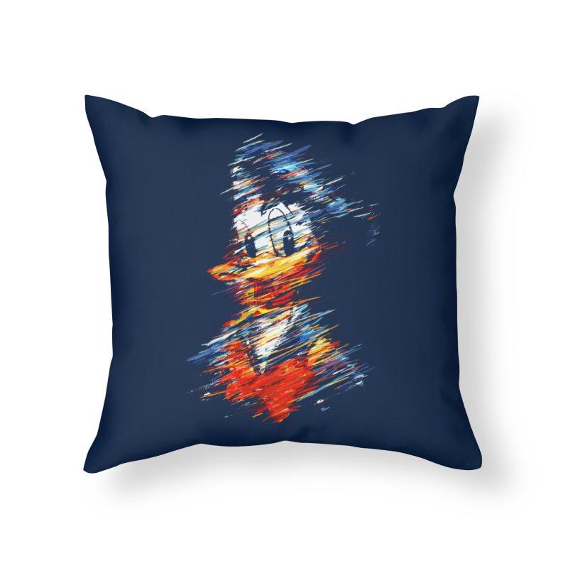Digital Donald Duck Home Throw Pillow by B4 Abraham's Artist Shop