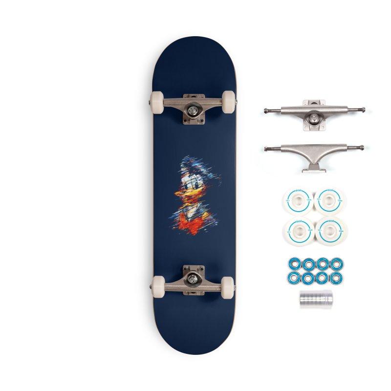 Digital Donald Duck Accessories Skateboard by B4 Abraham's Artist Shop