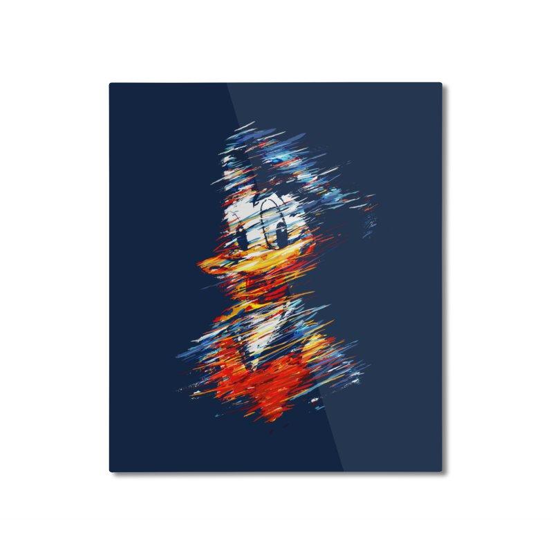 Digital Donald Duck Home Mounted Aluminum Print by B4 Abraham's Artist Shop