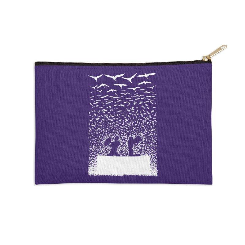 Pillow Fight Accessories Zip Pouch by B4 Abraham's Artist Shop